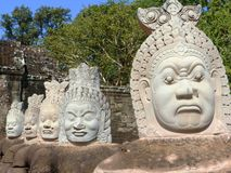 Ponte Angkor Wat/Cambogia Immagini Stock Libere da Diritti
