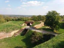 A ponte antiga na fortaleza fotos de stock