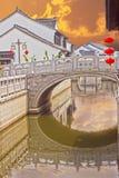 Ponte antiga sobre o canal Fotografia de Stock