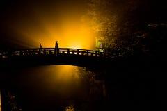 Ponte antiga vermelha, Nikko Japão Foto de Stock