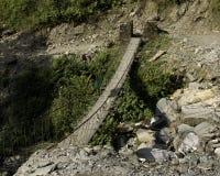 Ponte ao longo da fuga de Annapurna Foto de Stock