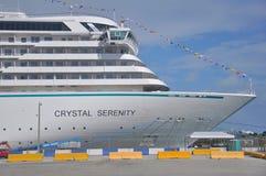Ponte aperto della nave da crociera di Crystal Serenity Fotografie Stock