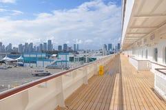 Ponte aperto della nave da crociera di Crystal Simphony Fotografie Stock Libere da Diritti