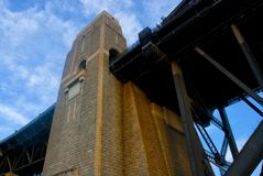 Ponte arquitetónica do porto do detalhe Foto de Stock