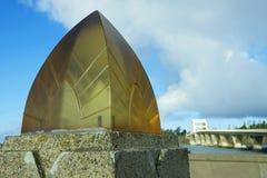 Ponte Art Deco Lamp della baia di Alsea Fotografia Stock