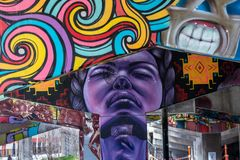 Ponte Art Graffiti Fotografie Stock Libere da Diritti