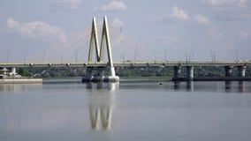 Ponte através do rio, cidade Kazan, Rússia filme
