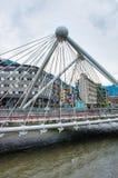 Ponte através do rio de Gran Valira em velinos do la de Andorra Imagem de Stock Royalty Free