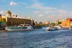 A ponte através do rio de Moscovo Fotos de Stock