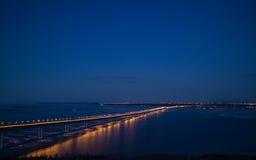 A ponte através do Volga Foto de Stock