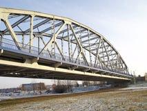 Ponte attraverso il fiume la Vistola Fotografia Stock Libera da Diritti