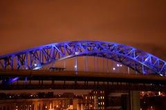 A ponte azul Fotografia de Stock