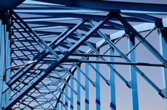 Ponte azul Imagens de Stock Royalty Free