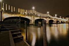 Ponte a Basilea nell'inverno fotografie stock libere da diritti