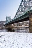 Ponte blu Dresda/Blaues Wunder di meraviglia Fotografie Stock Libere da Diritti