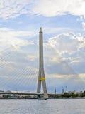 Ponte bonita de Rama VIII da paisagem que surpreende em Banguecoque Imagem de Stock Royalty Free