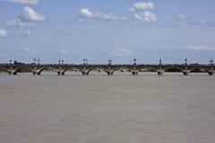 Ponte in Bordeaux Fotografie Stock