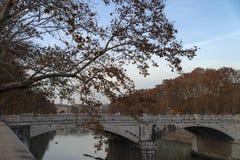 Ponte Bridge Giuseppe Mazzini, Roma. Italy royalty free stock photos