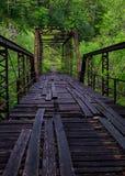 Ponte bruciato del mulino, grande South Fork, Tennessee Immagini Stock