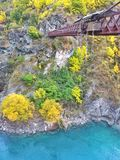 Ponte Bungy de Kawarau (AJHackett Bungy), Nova Zelândia Foto de Stock