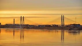 ponte Cabo-ficada no por do sol video estoque