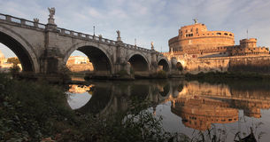 Ponte and Castel Sant Angelo, Rome Royalty Free Stock Images