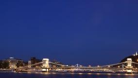 Ponte a catena 1 di Budapest Fotografie Stock