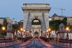Ponte a catena e Buda Castle, Budapest Immagine Stock Libera da Diritti