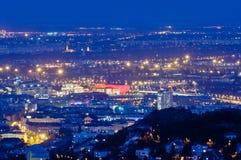 Ponte a catena e Buda Castle, Budapest Fotografia Stock Libera da Diritti