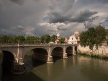 Ponte Cavour桥梁在罗马,意大利 图库摄影