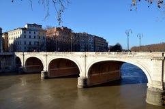 Ponte Cavour a Roma Fotografia Stock