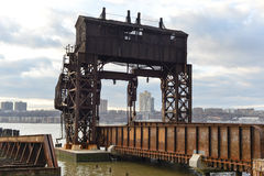 Ponte central de transferência da rua da estrada de ferro 69th de New York Fotos de Stock Royalty Free