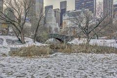 Ponte Central Park de Gapstow, New York City Fotografia de Stock Royalty Free