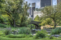 Ponte Central Park de Gapstow, New York City Imagens de Stock Royalty Free