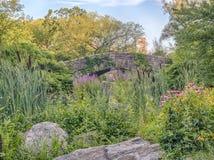 Ponte Central Park de Gapstow, New York City Fotos de Stock
