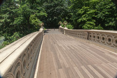 Ponte Central Park New York City da curva Imagem de Stock Royalty Free