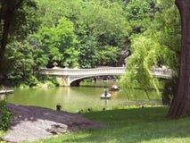 Ponte in Central Park, NYC dell'arco immagine stock libera da diritti