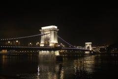 Ponte Chain Budapest fotografia de stock royalty free