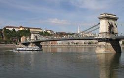 Ponte Chain (Budapest) Imagens de Stock
