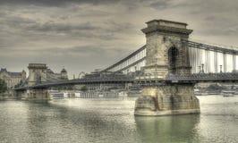 Ponte Chain Budapest Imagem de Stock