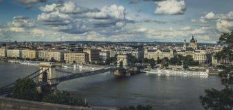 Ponte Chain Budapest de Szechenyi imagem de stock royalty free