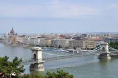Ponte Chain, Budapest, Hungria Fotos de Stock