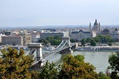 Ponte Chain, Budapest, Hungria Foto de Stock