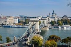 Ponte Chain de Budapest Foto de Stock