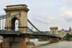 A ponte Chain de Széchenyi na tarde fotos de stock royalty free
