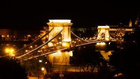 Ponte Chain de Széchenyi Fotos de Stock