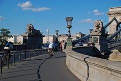 Ponte Chain de Szechenyi, Budapest, Hungria Imagem de Stock