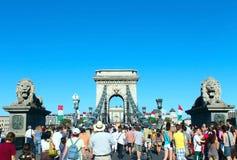 Ponte Chain em Budapest Foto de Stock
