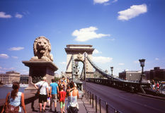 Ponte Chain em Budapest Imagens de Stock Royalty Free