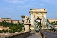 Ponte Chain em Budapest fotografia de stock